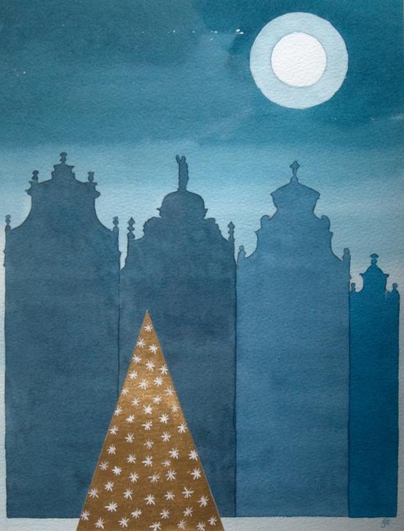 Arbre De Noel, La Grand Place, Bru